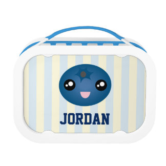 Cute Love You Berry Much Cartoon Blue Berry Lunch Boxes