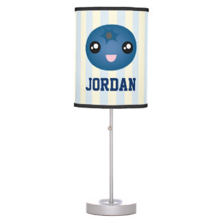 Cute Love You Berry Much Cartoon Blue Berry Table Lamp