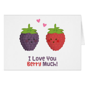 Cute Love You Berry Much Pun Humor Card