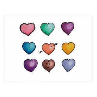 Cute Lovehearts Postcard