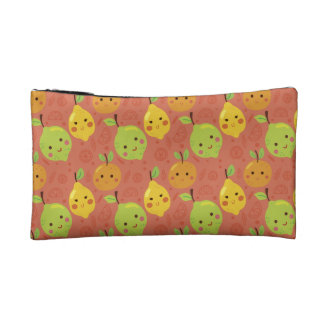 Cute Lovely Cartoon Orange, Lemon and Lime Cosmetic Bag