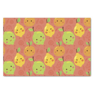 Cute Lovely Cartoon Orange, Lemon and Lime Tissue Paper