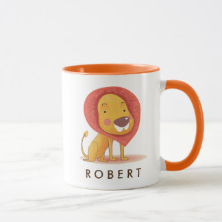 Cute lovely Lion  Personalized your name Mug