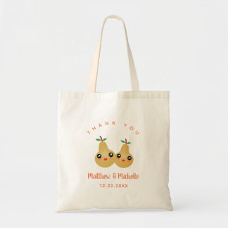 Cute Lovely Pair Whimsical Wedding Favor Thank You Tote Bag