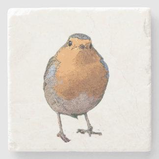 Cute lovely Robin bird Redbreast Stone Coaster