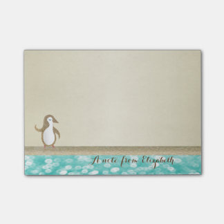 Cute Lovely  Stylish Elegant  ,Happy Penguine Post-it Notes