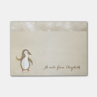 Cute Lovely  Stylish ,Happy Penguine Post-it Notes