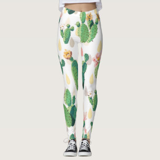 Cute Lovely Succulent Cactus  Leggins Leggings