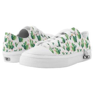 Cute Lovely Succulent Cactus Low Top Shoes