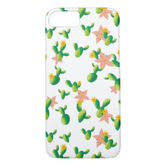 Cute Lovely Watercolor flowers succulent cactus iPhone 8/7 Case