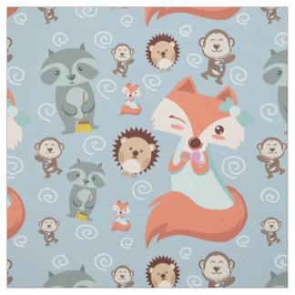 Cute Lovely woodland animals fox nursery Fabric