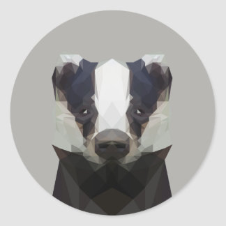 Cute low poly badger sticker