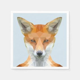 Cute low poly fox napkins paper napkin