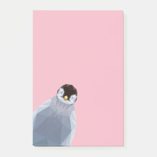 Cute low poly penguin post it notes