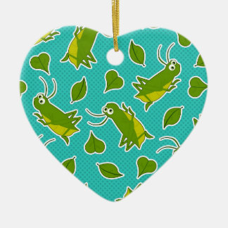 Cute Lucky Cricket Print Ceramic Ornament