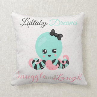 Cute Octopus Decorative Pillows Zazzle.ca