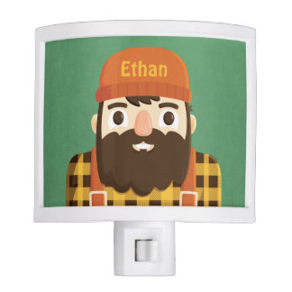 Cute Lumberjack Beard Kids Room Decor Night Light