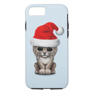 Cute Lynx Cub Wearing a Santa Hat iPhone 8/7 Case