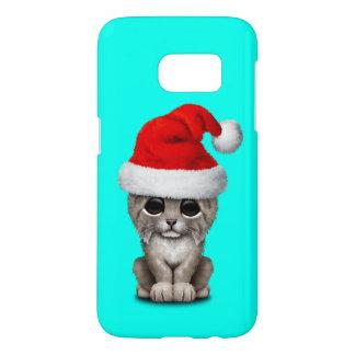 Cute Lynx Cub Wearing a Santa Hat Samsung Galaxy S7 Case