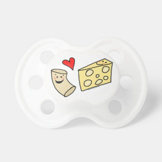 Cute Macaroni and Cheese Cartoon Pacifier