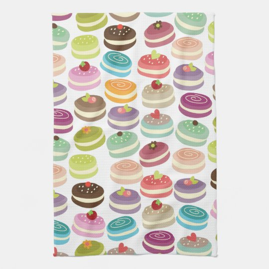 Cute Macarons Pattern Kitchen Towel