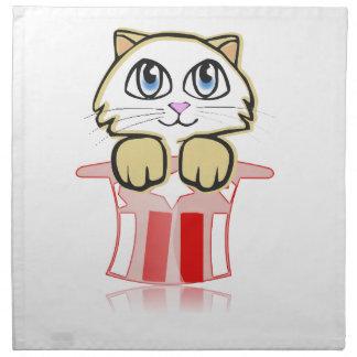 cute magic cate napkin