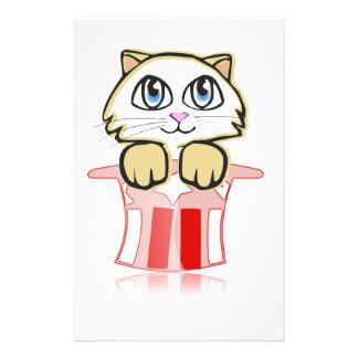 cute magic cate stationery
