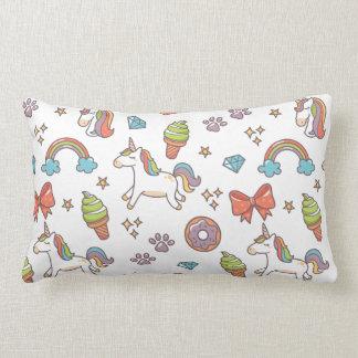 Cute Magic Unicorn Lumbar Pillow