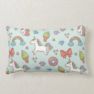 Cute Magic Unicorn Lumbar Pillow