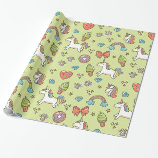 Cute Magic Unicorn Wrapping Paper