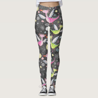 Cute Magical Dragons Leggings