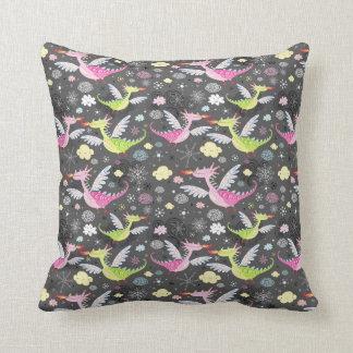 Cute Magical Dragons Throw Pillow