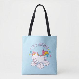 Cute Magical I AM AN UNICORN BLUE Tote Bag