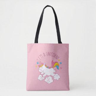 Cute Magical I AM AN UNICORN CUSTOM PINK Tote Bag