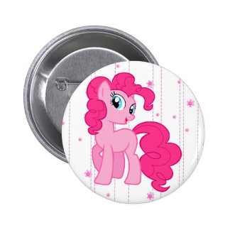 Cute Magical Pink Pony Button