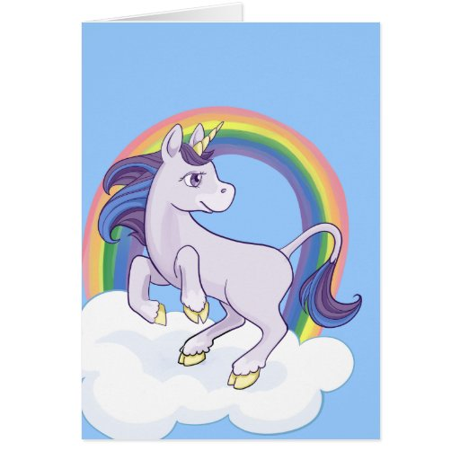 Cute Magical Rainbow Unicorn Cards