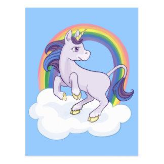 Cute Magical Rainbow Unicorn Postcard