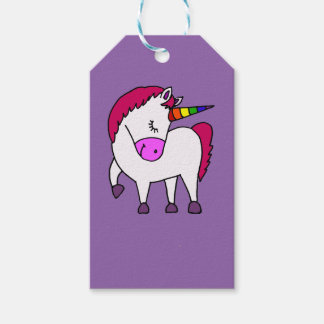 Cute Magical Unicorn Cartoon Gift Tags