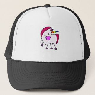 Cute Magical Unicorn Cartoon Trucker Hat