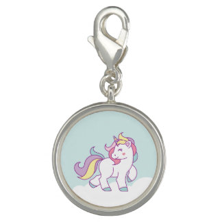 Cute Magical Unicorn Pastel color Personalized Charms