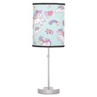 Cute Magical Unicorn Pastel color Personalized Table Lamp