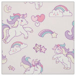 Cute Magical Unicorn Pastel colour pink Fabric