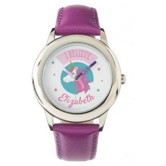 Cute Magical Unicorn Pink And Purple Watch