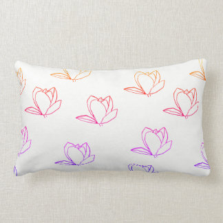 Cute Magnolia Flowers Lumbar Throw Pillow Cushion