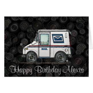 Cute Mail Truck Card