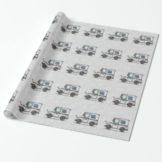 Cute Mail Truck Wrapping Paper