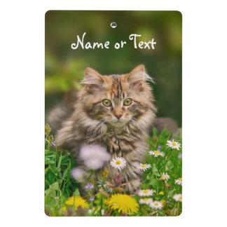 Cute Maine Coon Kitten Cat Flower - Personalized Mini Clipboard