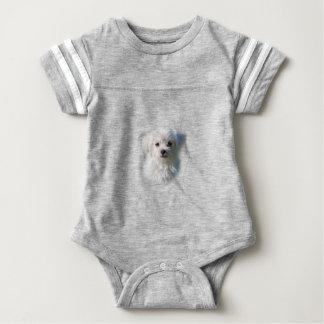 Cute Maltese Dog Baby Bodysuit