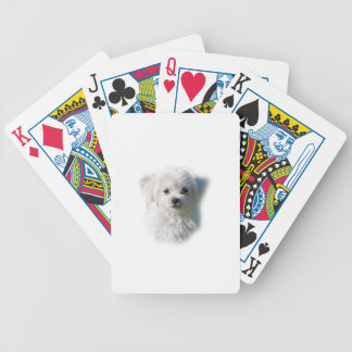 Cute Maltese Dog Bicycle Playing Cards