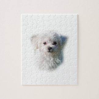 Cute Maltese Dog Jigsaw Puzzle